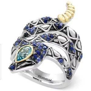 EFFY Balissima Sapphire and Blue Topaz snake ring